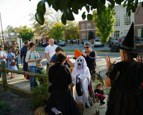 Trick or Treating in Downtown Watkinsville, Georgia.